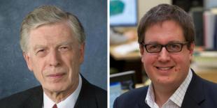 Photograph of Professor Geoff Hewitt and Professor Jason Reese